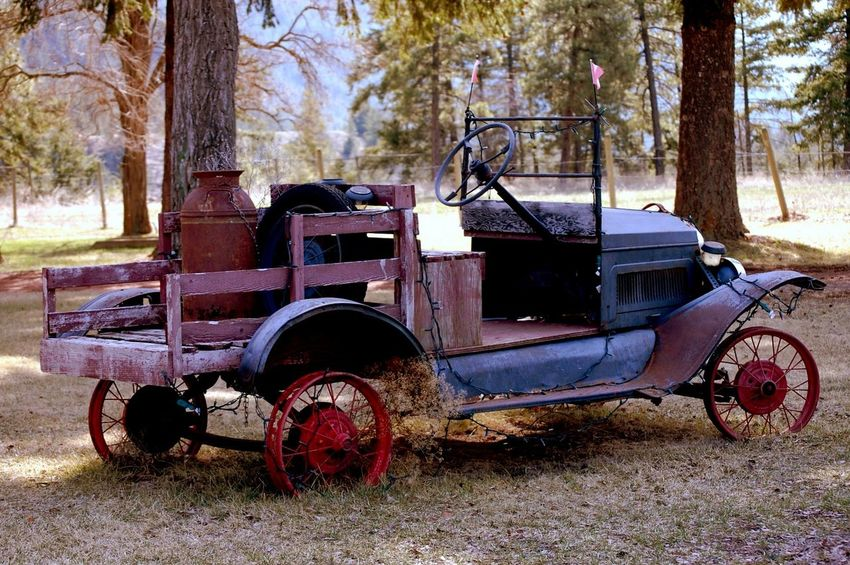 from a trip up country. Old and rusty