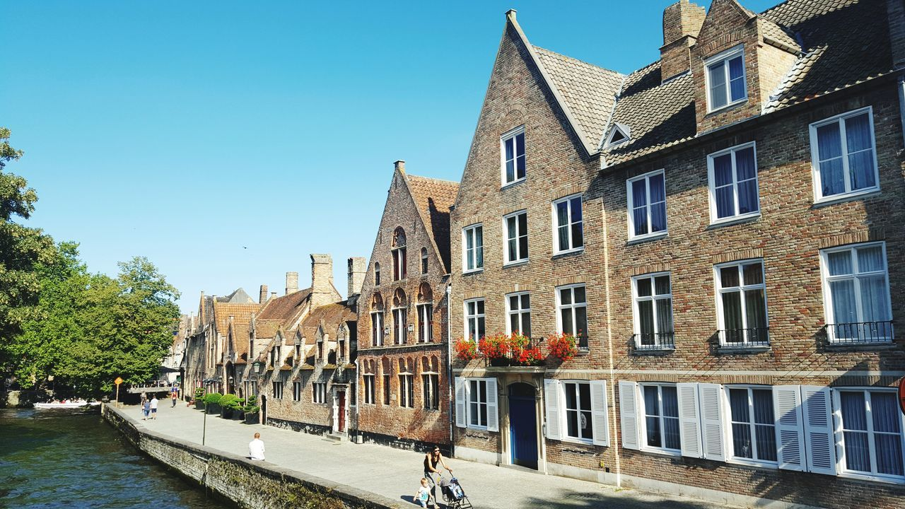 Architecture Building Exterior Blue Travel Destinations Built Structure City Sky Clear Sky Outdoors No People Cityscape Cultures Day Urban Skyline Brugge BrugesCanal Bruges Flanders Flandres