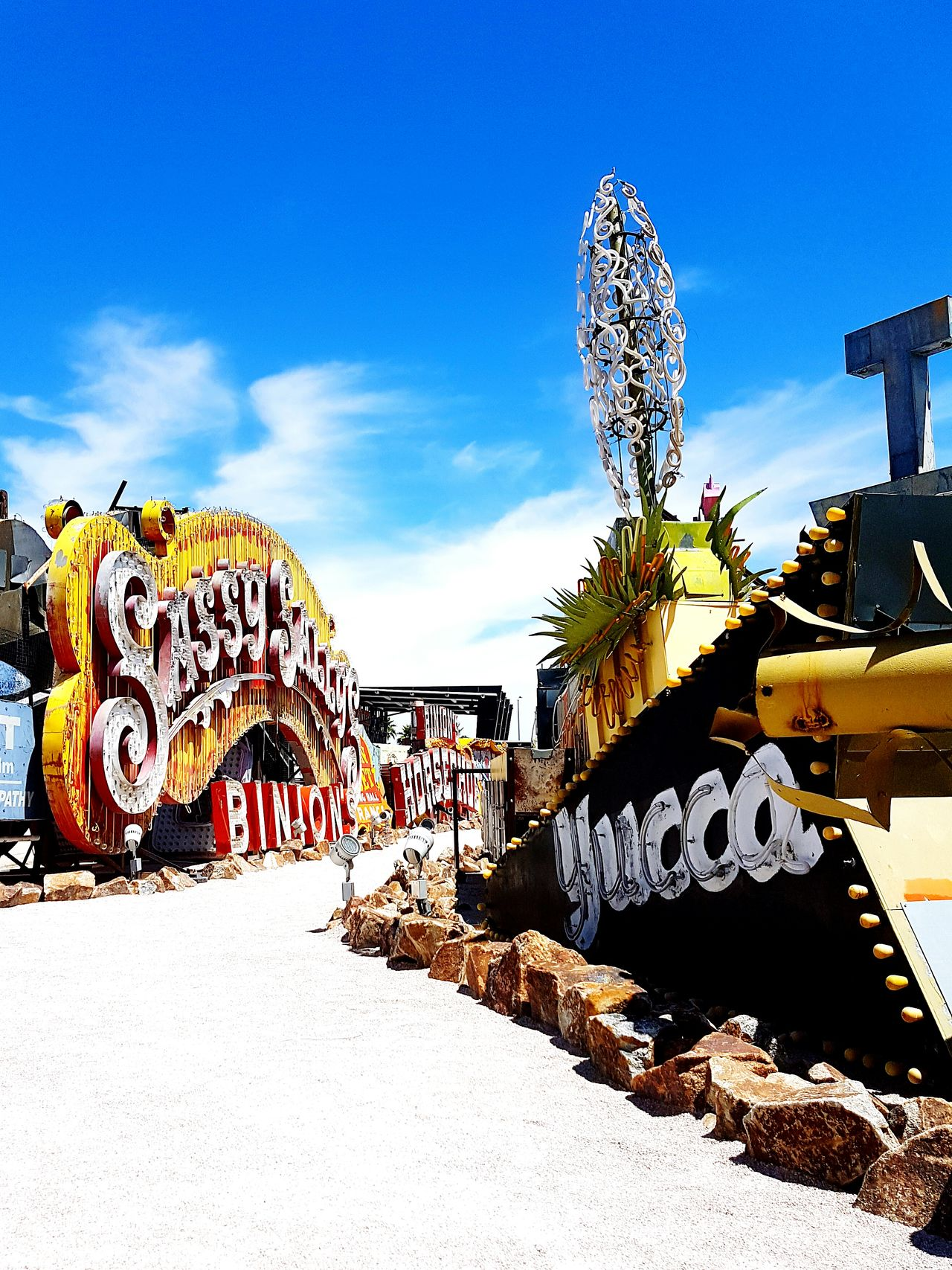 Las Vegas Neon Sign Neon Lights Neons Vintage Vibrant Color Retro Oldvegas Nevada Museum Outdoormuseum Sassy Yucca Yuccaplant