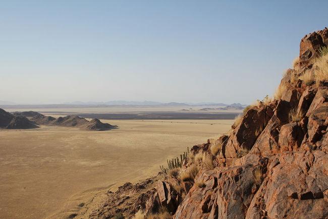 Beauty In Nature Blue Sky Far Distance Horizon Kanaan Namibia Outdoors Rock Rough Sand Sky Trip