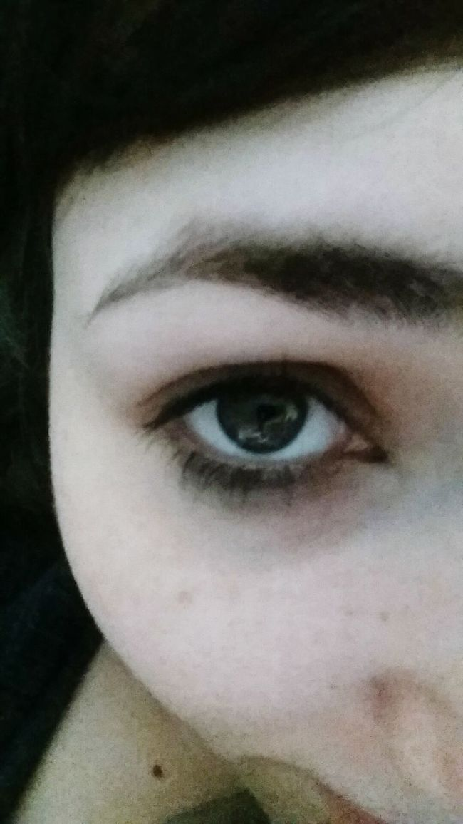 No make up mornings with residual eye liners. Makeup Eyeliner. Morning Selfie Ohwell