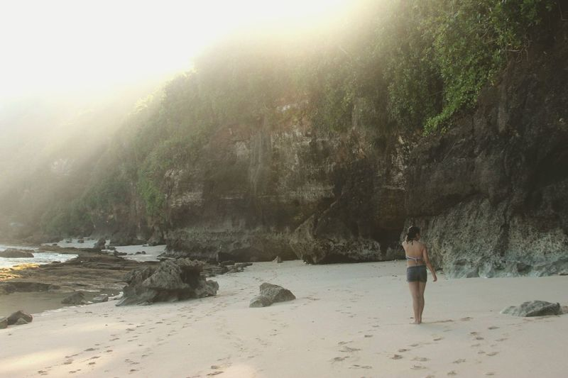 Beautiful Bali Rear View People Summer Vacations Water Nature Outdoors Adventure Women Beauty In Nature Mountain EyeEmNewHere Relaxation Leisure Activity Beach Sand Day Scenics Bali INDONESIA Bali, Indonesia Beach Walk Girl Woman