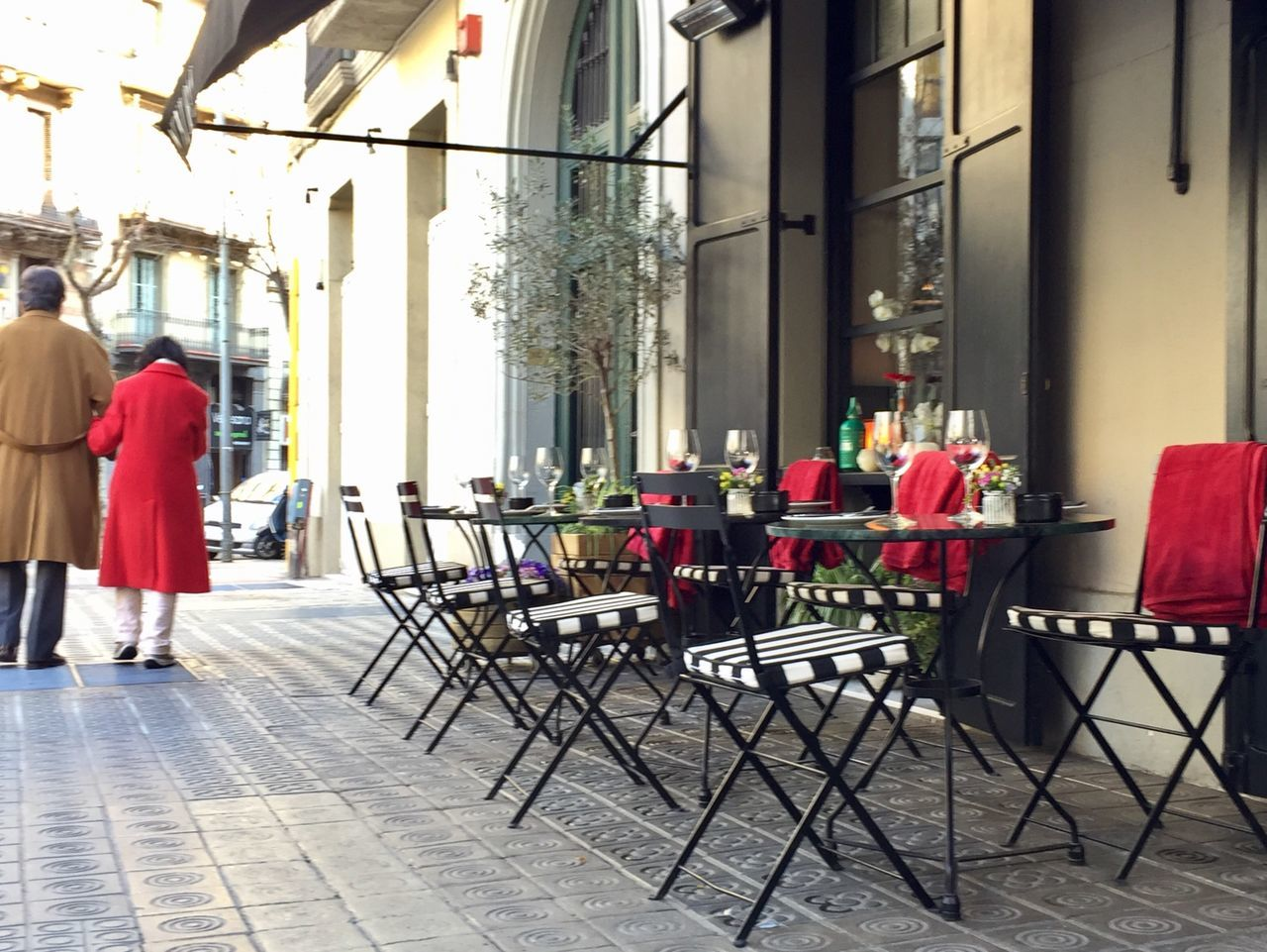Chair Built Structure Table Women City Architecture Outdoors Day Adult Adults Only People Cityscape Red Street Photography Streetphotography