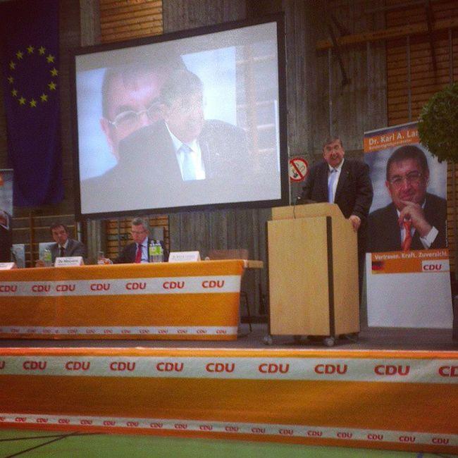 Dr. Thomas de Maizière MdB, Bundesminister der Verteidigung und Dr. Karl A. Lamers. :)) Cdu +