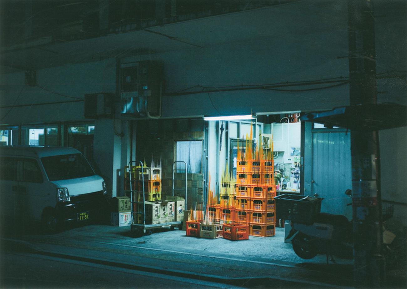 Naha Packed Color Distribution Warehouse Industrial Japan Mixedmedia Mixedmediaart Naha Neon Neon Lights Night Nightphotography OftheNight Okinawa The Architect - 2017 EyeEm Awards Travel Urban Warehouse