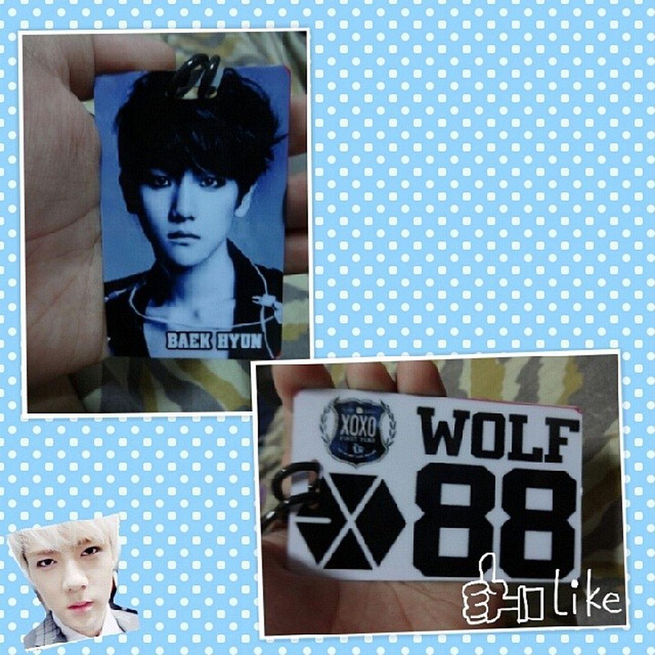 My Exo bagtag ♥ BagTag EXO Baekhyun Wolf88 Exomerch Sehun ♡