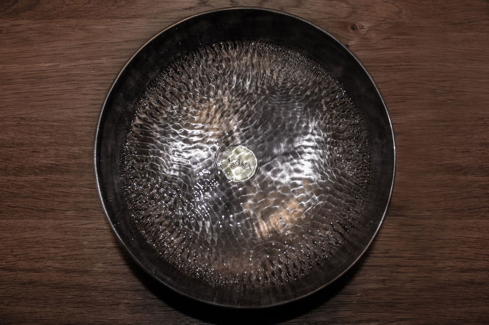 Beautiful Directly Above Klangschale Muster No People Table Vibration Wasser Wasserspiel Water Wood - Material