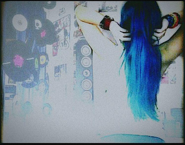 Früher , Blau 💙 Blue BlueHair Missingcoulours Oldpicture Blau