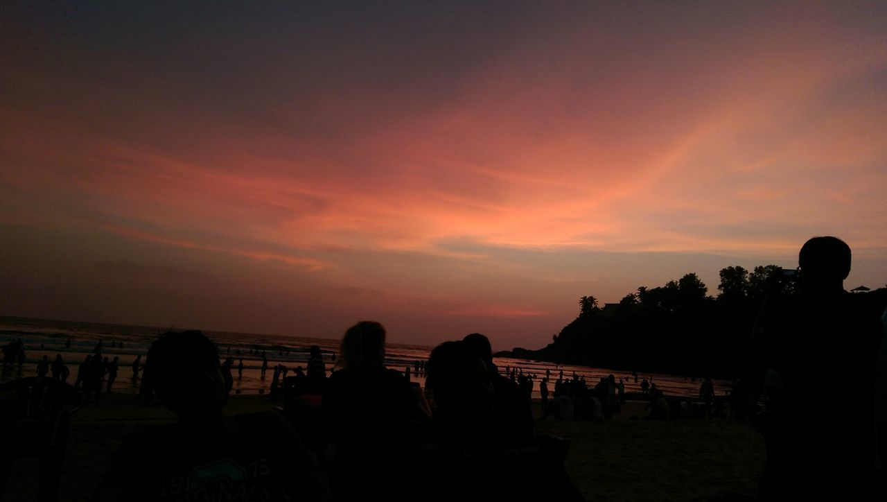 Goa Sunsetbythesea🌅 Sunset_collection Classics Seaside Htc One M8 Nature Relaxing Night Lights Randomshot