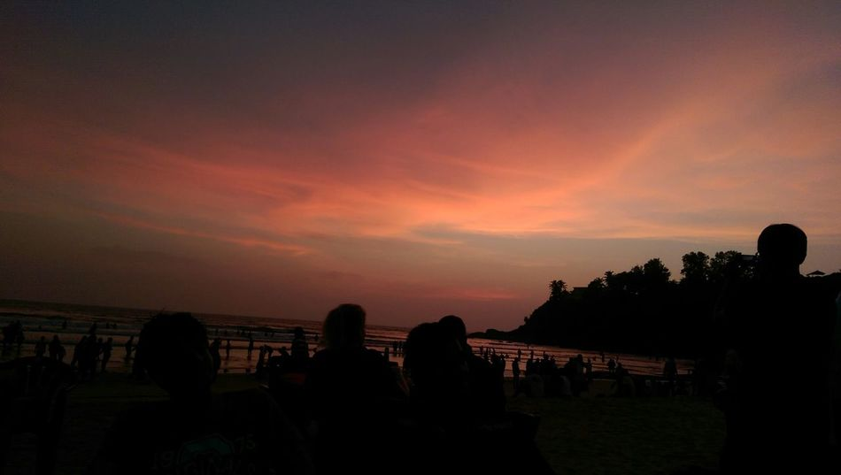 Goa Sunsetbythesea🌅 Sunset_collection Classics Seaside Htc One M8 Nature Relaxing Night Lights Randomshot