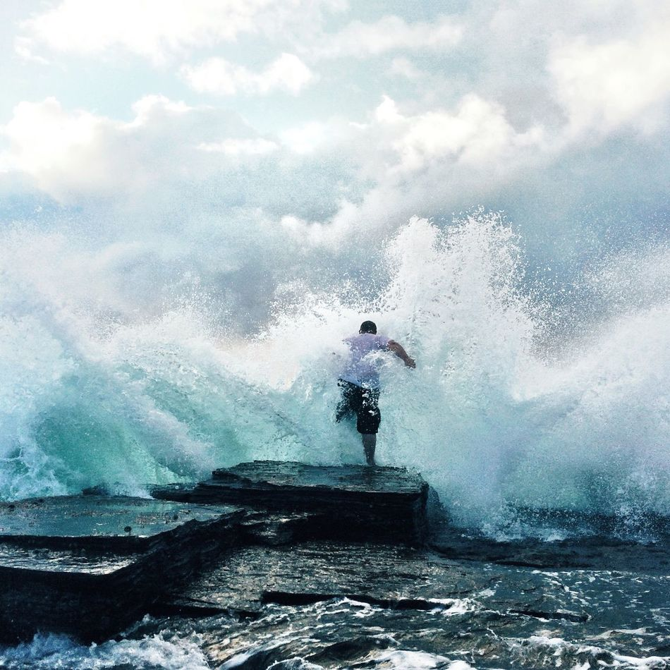 Beautiful stock photos of ocean, Cloud, Day, Full Length, One Man Only