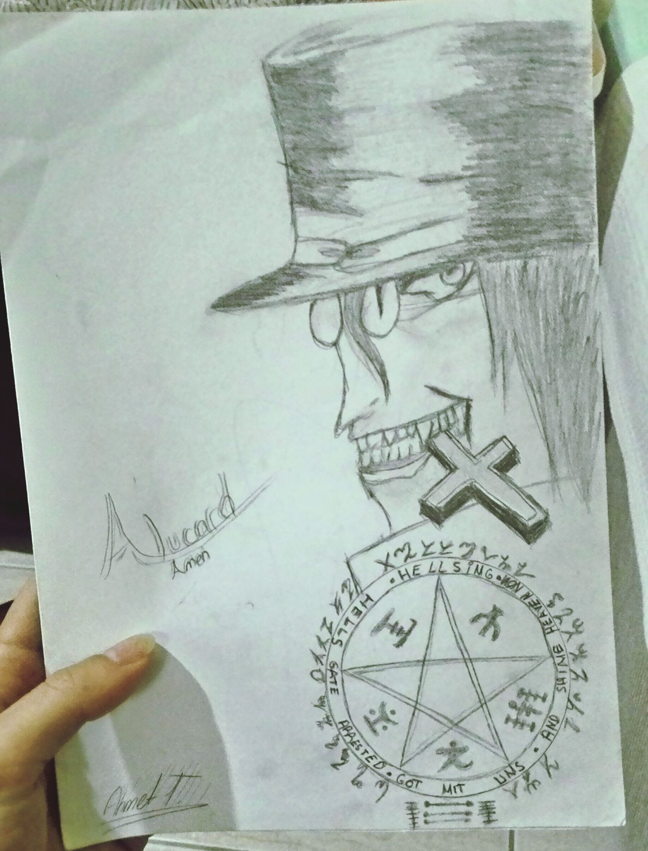 Art, Drawing, Creativity Alucard Amen isa sizi kutsasin orospu cocuklari :D ahaha