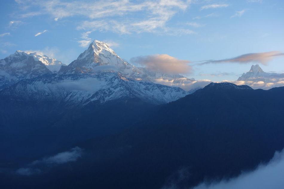 Beautiful stock photos of annapurna,  Cloud - Sky,  Cold Temperature,  Horizontal Image,  Idyllic