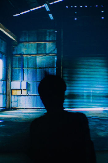 Blue Blurred Motion Indoors  One Person Silhouette Blue Wave Perfect Imperfection Cinema In Your Life
