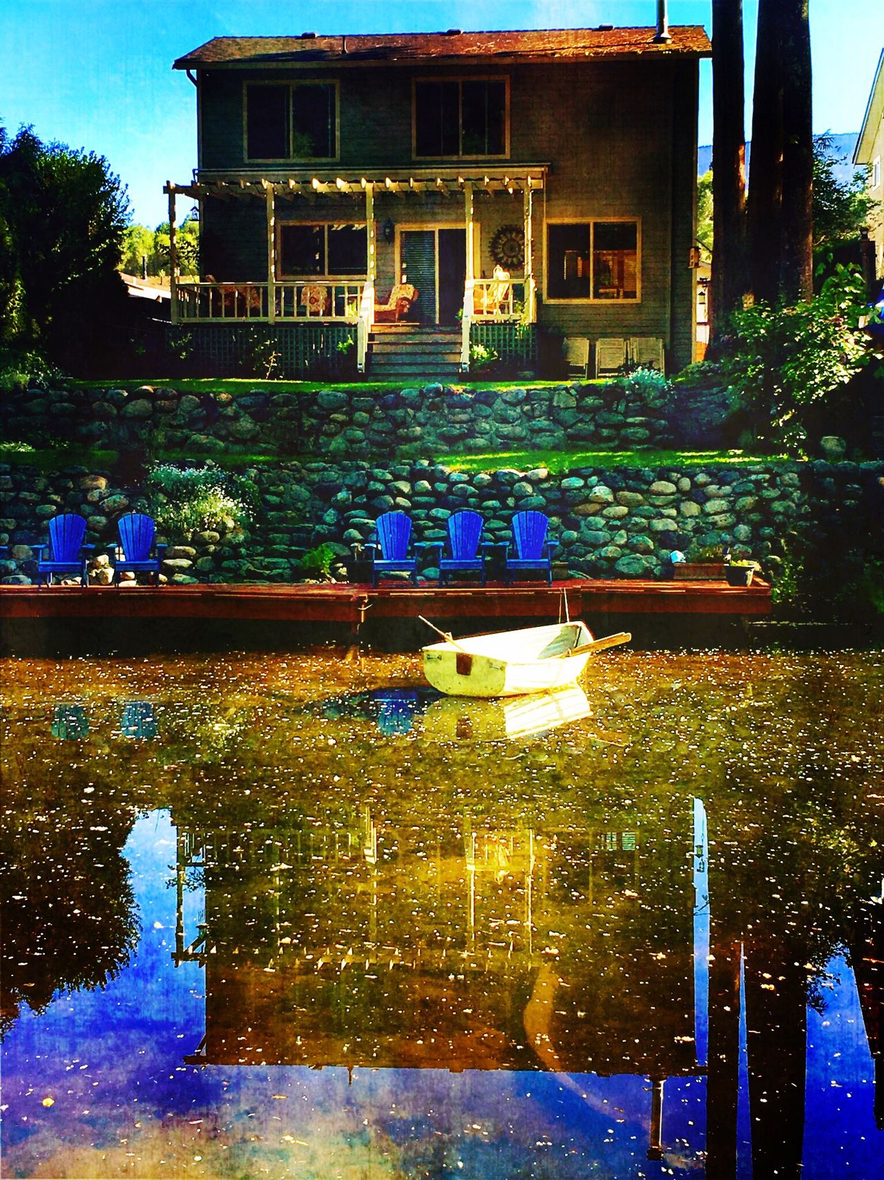 Paradise Peace And Quiet Guiet Place Springtime Boat Water Reflections Drifting Waiting For Adventure Teflection