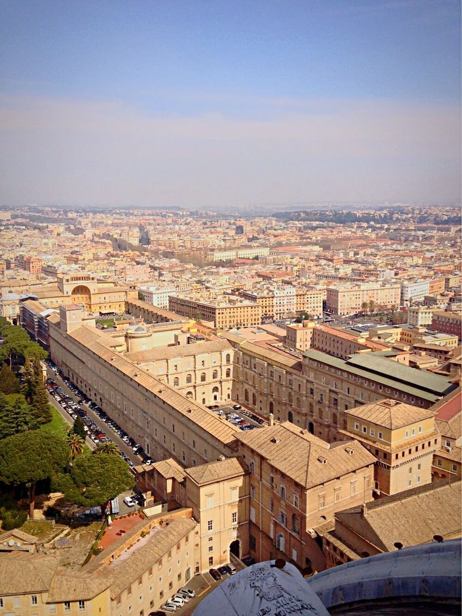 Rome. Cityscape Architecture High Angle View City Built Structure Travel Destinations No People Sky Day Rome Vatican Flying High
