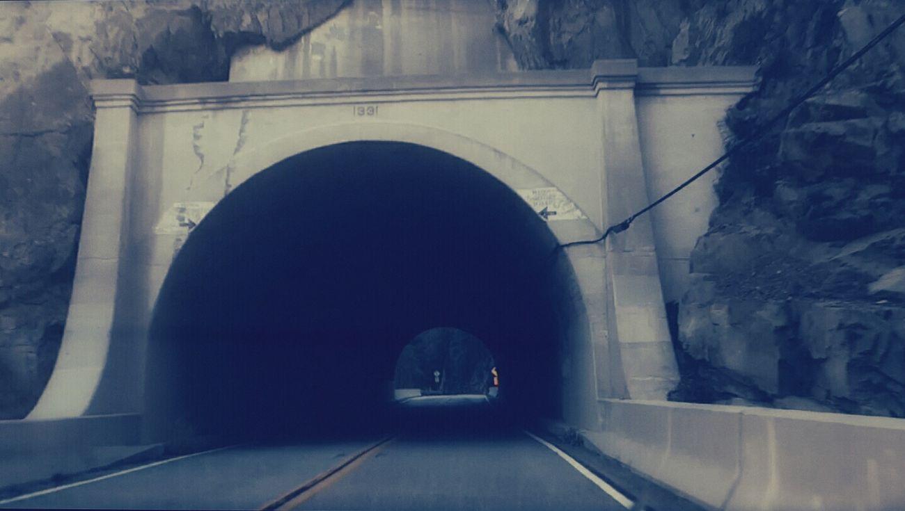 Ojai California Short Tunnel On The Road