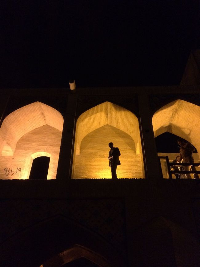 The Purist (no Edit, No Filter) Nightphotography Night Lights Alone Man Esfahan Life
