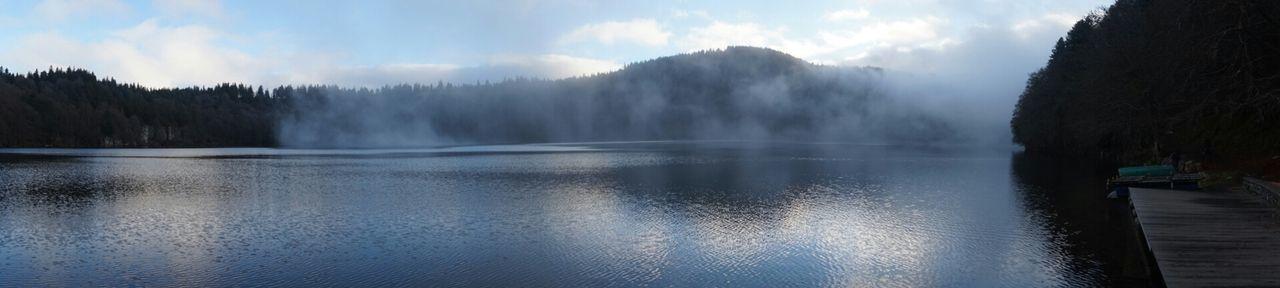 Lake Lac Pavin Auvergne Winter Landscape France Water Reflections Waterscape Blue Wave Iloveauvergne