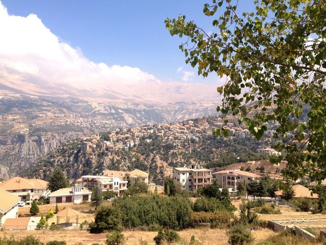Lebanon Villagescape Mountains Mountains And Sky Mountains And Valleys East Mediterranean