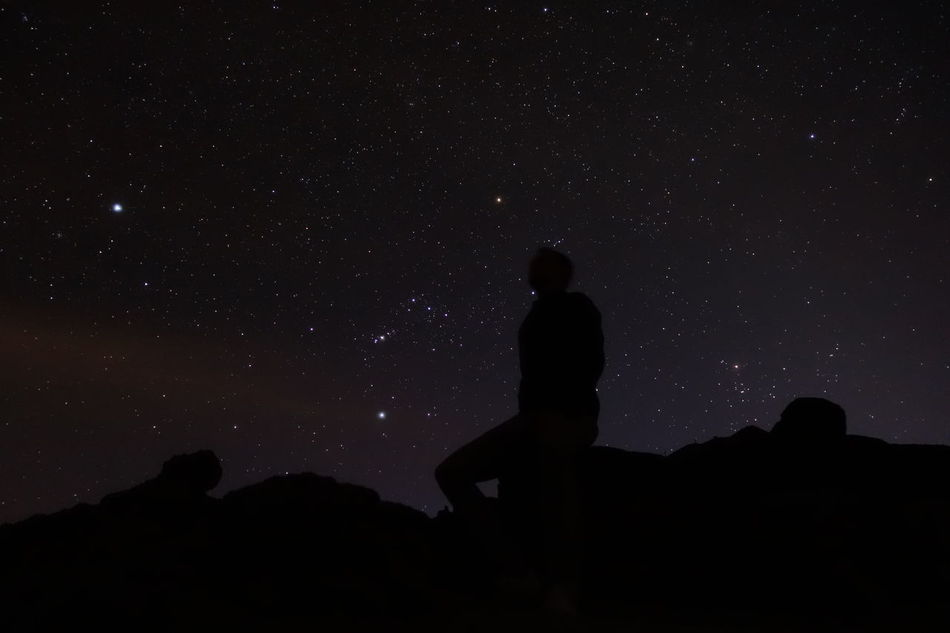 Star - Space Night Astronomy Silhouette Space And Astronomy Milky Way One Man Only Dark Galaxy One Person Adults Only Constellation Landscape Only Men Star Field Space Ethereal Sky People Adult National Park El Teide Tenerife Volcanic Landscape Volcano