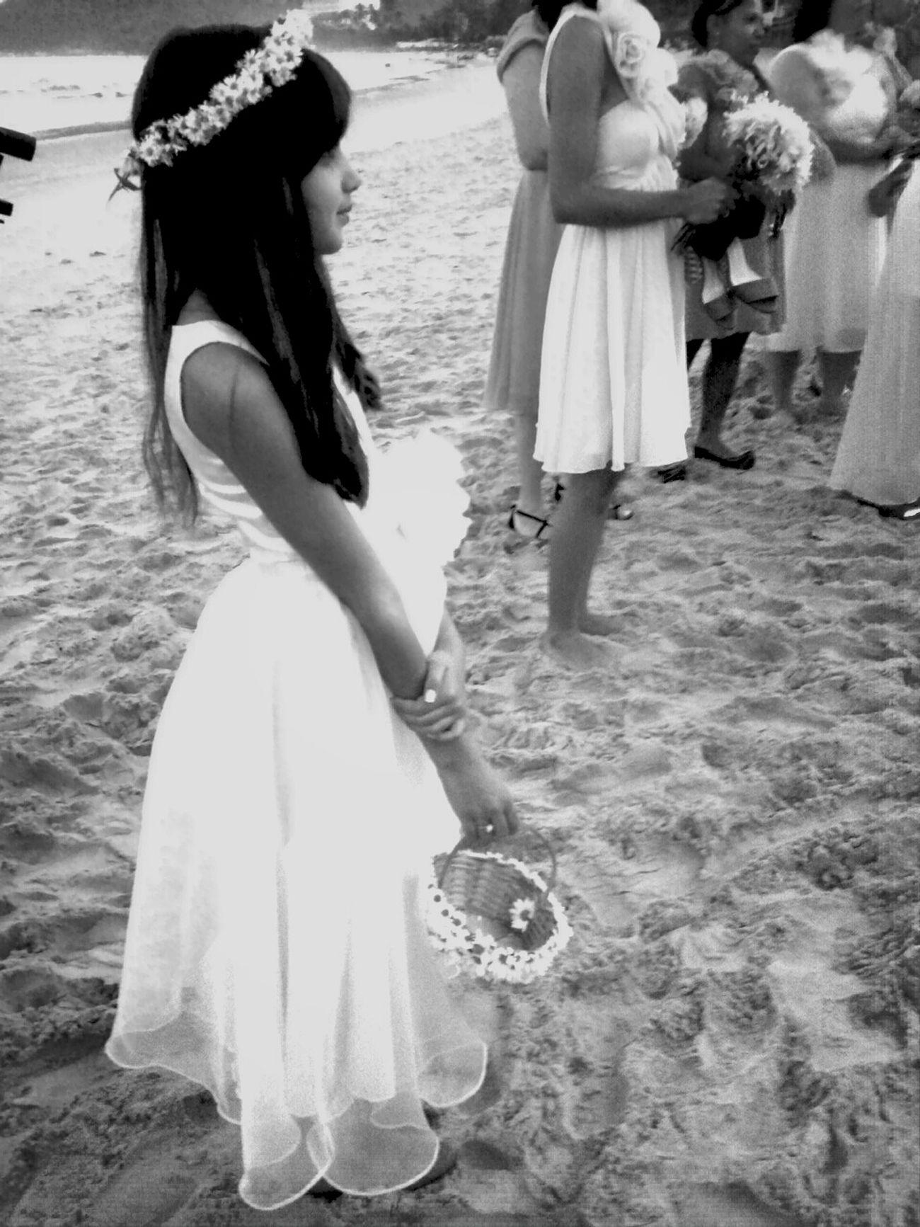 Dama de honra. Bridesmaid Lovely Beach Marriage