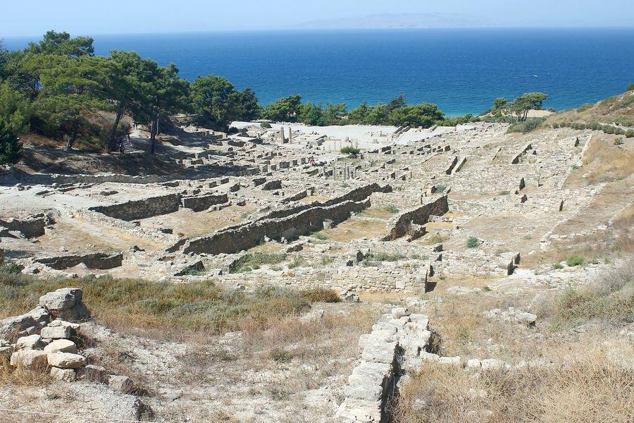 Sea Orizon Ancient Kamiros Rodi Greece Island Sea No People Summertime Holiday