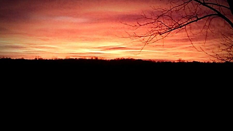 Beautiful sunset in Kentucky