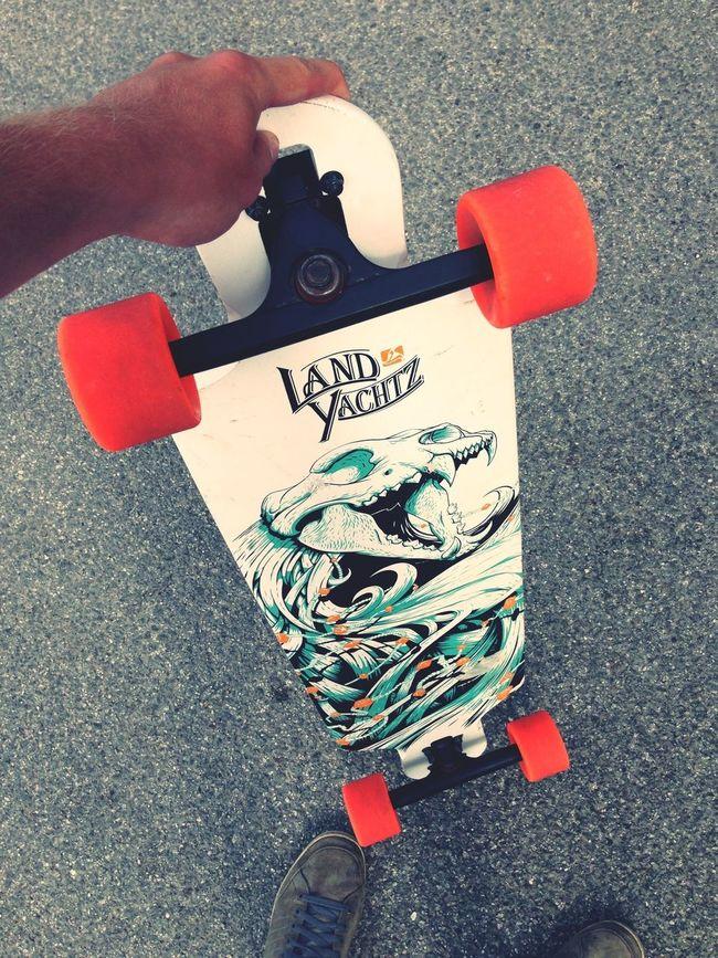 Longboard Red Wheels Hollidays