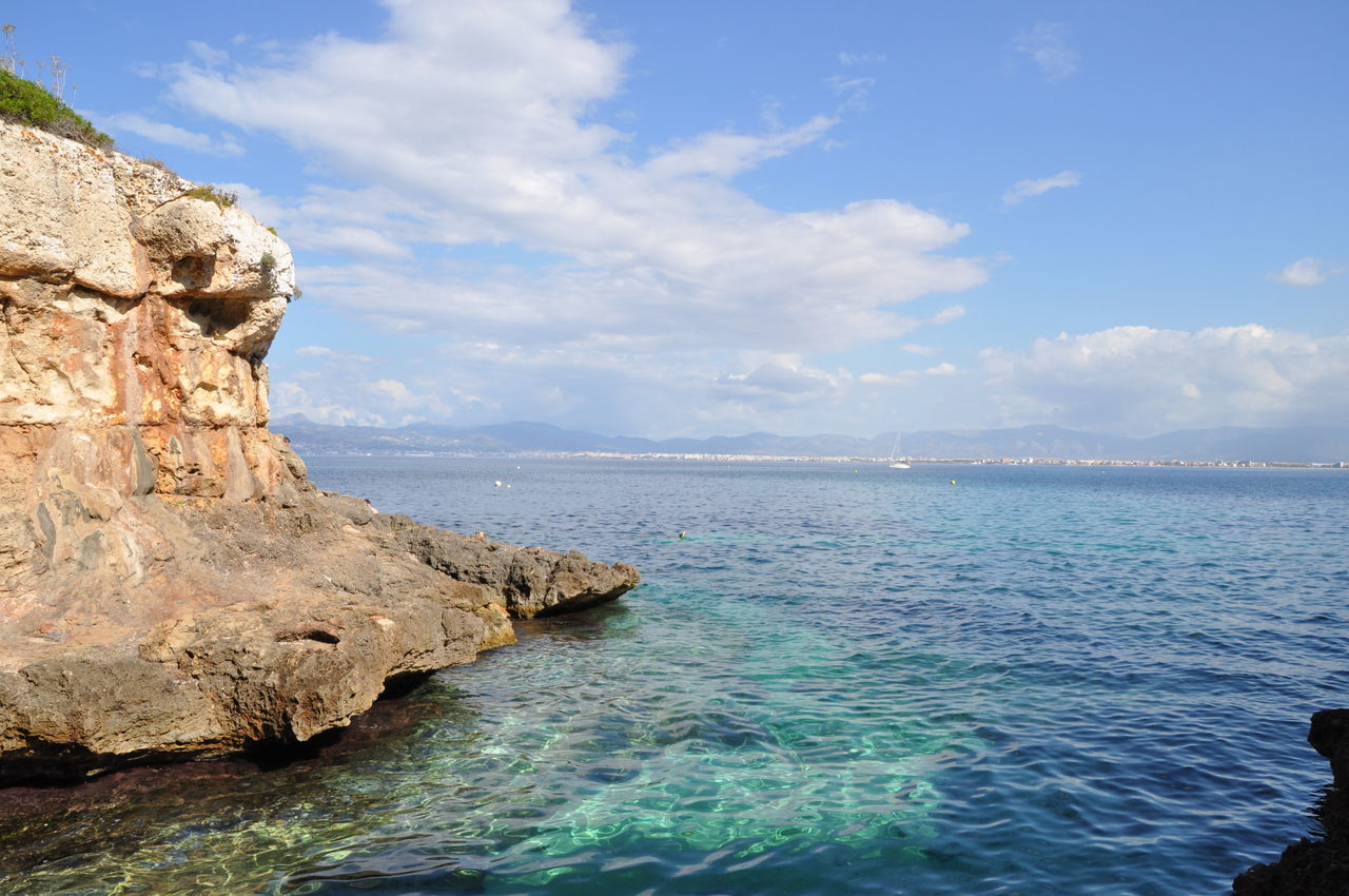 Paradise bay in Mallorca, Spain Horizon Over Water No People Water Sea Bay Blue Water Crystal Clear Waters Paradise On Earth Paradise Paradise Island Paradise Bay Scenics Nature Beauty In Nature Outdoors Cloud - Sky Up Close And Personal With Nature