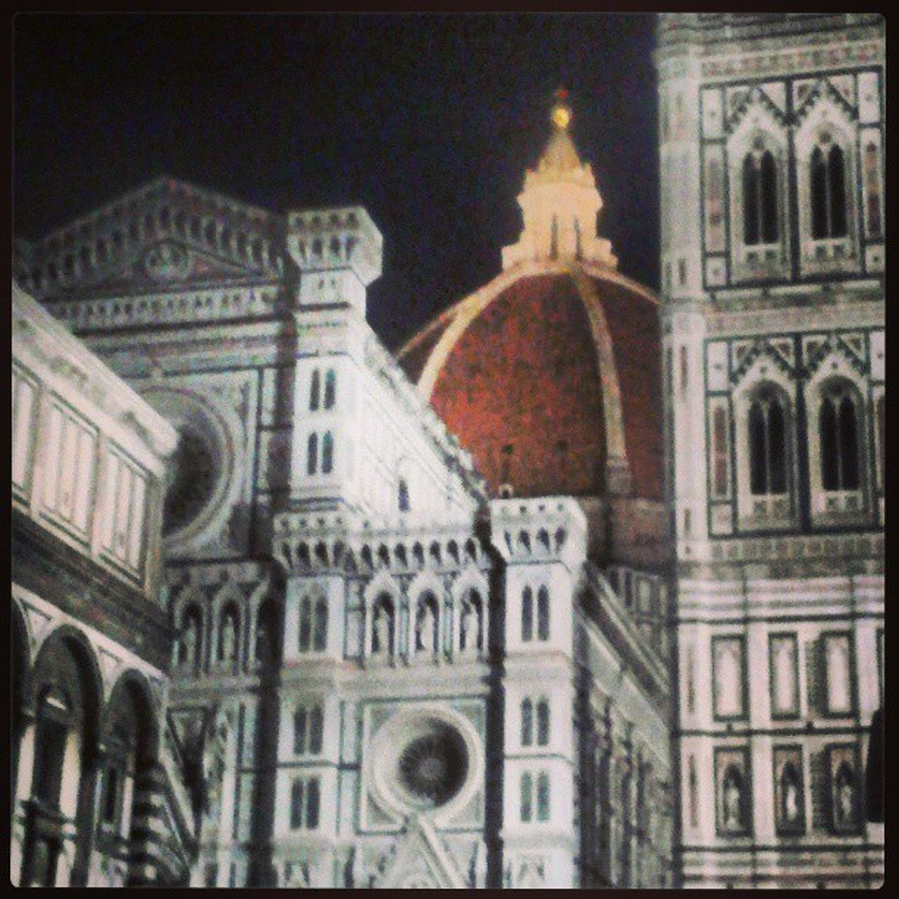 Firenzebynight Firenze Buongiorno Notte cupola meraviglia arte citta italia immensa instaitalia florence orgoglio forzaviola