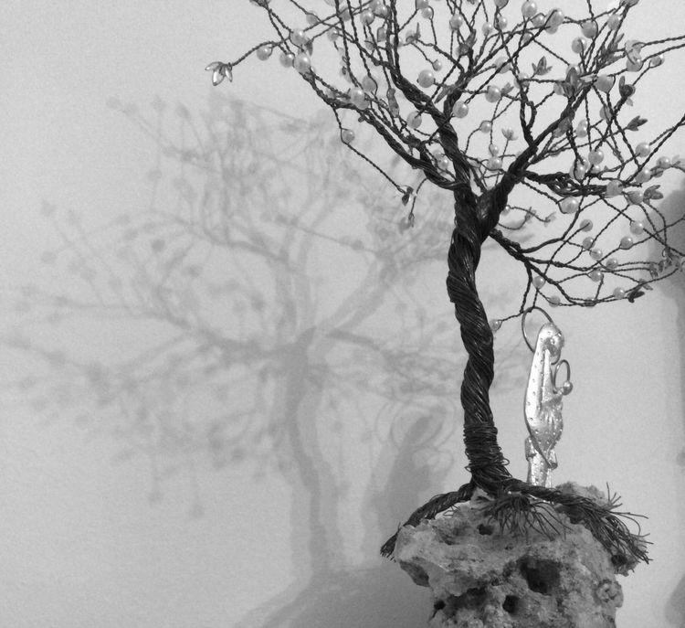 Bare Tree Branch Tranquil Scene Dead Plant Non-urban Scene Reflection Tranquility No People Ptolemaida