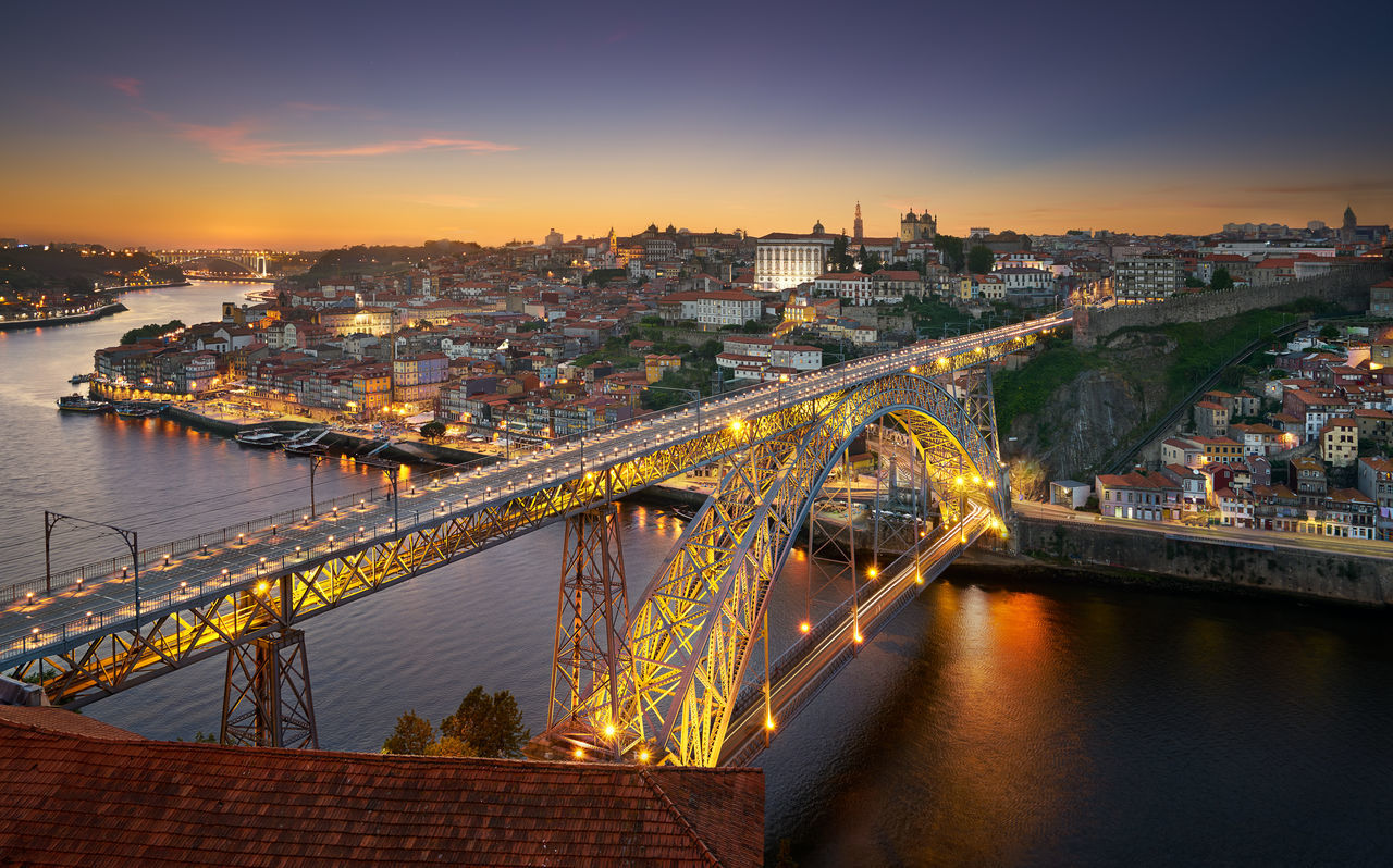 """""""It is hard to imagine the things you have never seen."""" ― Steven J. Carroll, All the Worlds of Men Aerial Architecture Building Built Structure City City Life Cityscape Douro  Europe Evening House Light Trails Lights Nightscape Panorama Ponte Ponte D.Luis Porto Portugal River Sky Skyline Sunset Travel Travel Destinations The Great Outdoors - 2017 EyeEm Awards"""