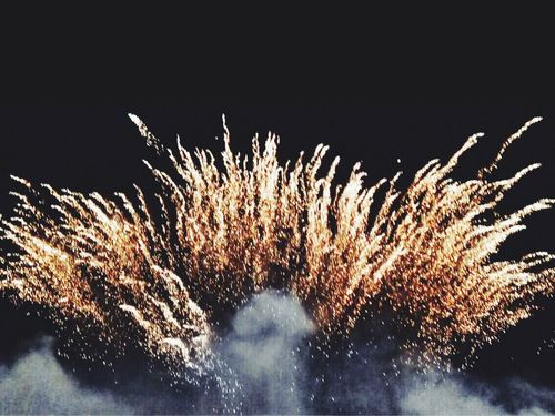 Fireworks Fireworksphotography Fireworks In The Sky Light Gold Pyromagic Szczecin Poland Beautiful Night Hdr_Collection HDR VSCO Vscocam Exploding Firework Display Black Background