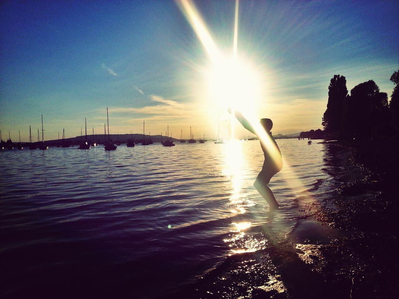 Sunset Schattenspiel  Lakeshore