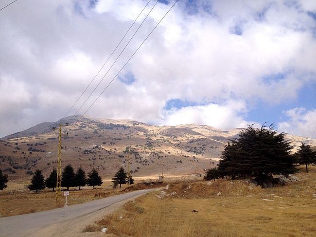 Lebanon Mountains Arid Landscape Powerlines