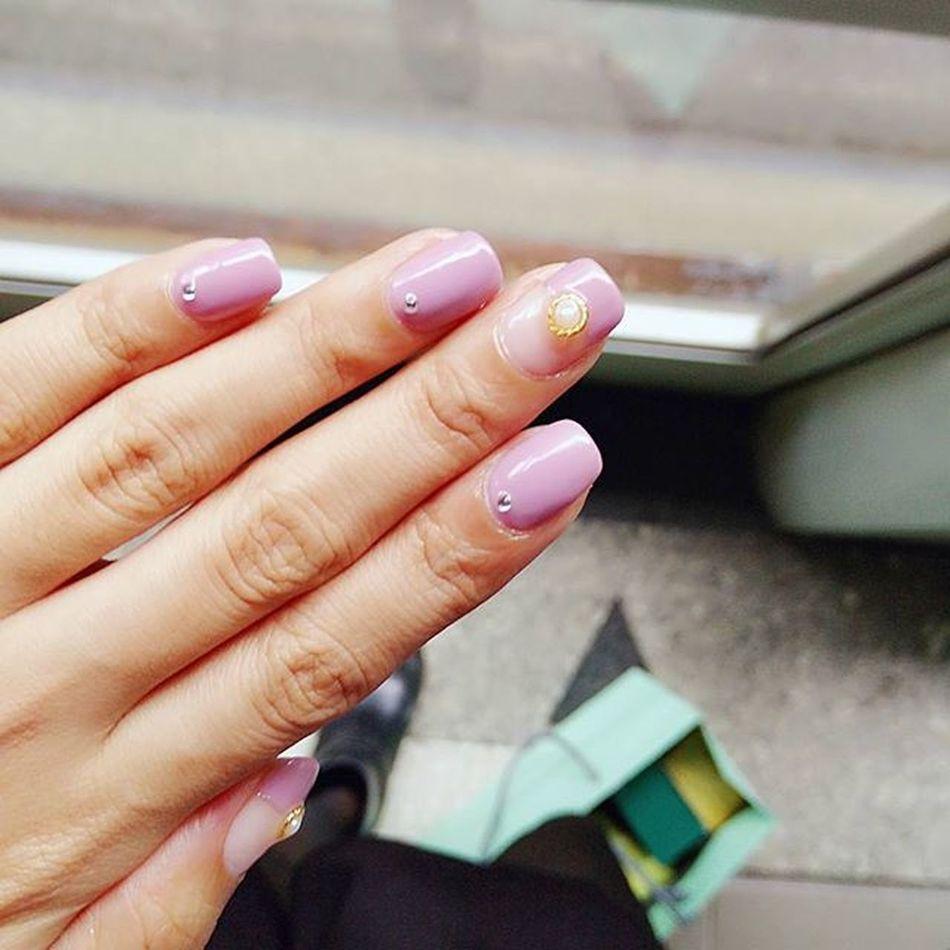 今日指彩 粉紫色一直是我的愛。Lilac MinouNail Gelnails Lovemylife 愛曼達