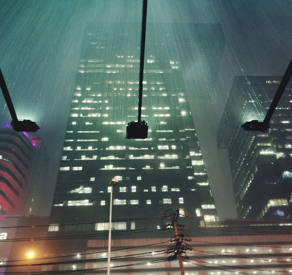 "Raining ' "" ' Rain Illuminated Architecture Built Structure Darkness And Light"