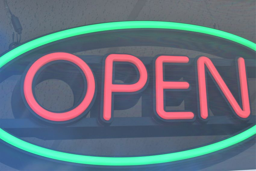 An Image of a open logo, behind a window Behind Window Close-up Communication Day Multi Colored Neon No People Open Sign Outdoors Text Western Script Window