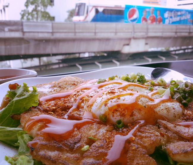 Thai Food Fried Noodles With Chicken Bts Chidlom Bangkok
