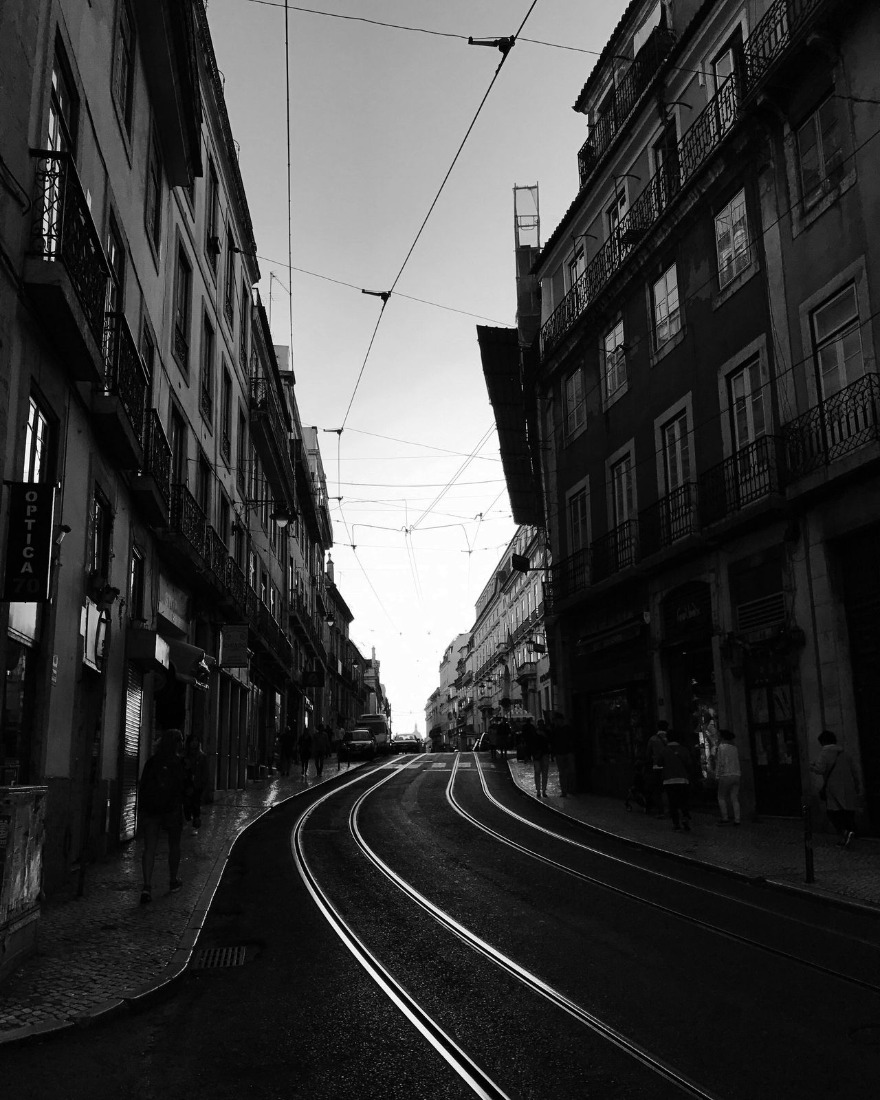Railroad Track No People Black And White Monochrome Street Photography Bw_collection Blackandwhite Lisbon Outdoors City