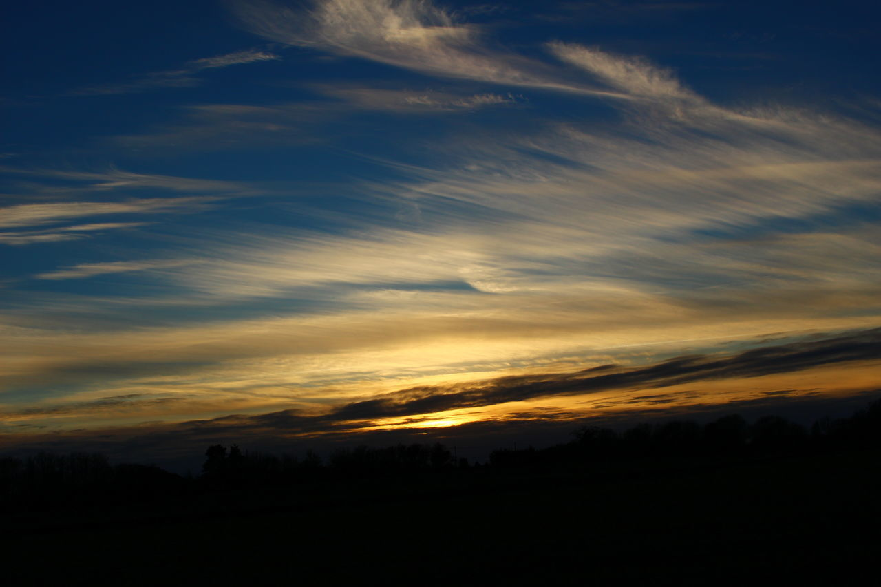 Beautiful Blue Blues Cloud Cloud - Sky Dark Dramatic Sky Dusk Landscape Nature Nofolkskie Norfolk Orange Outdoors Sky Sun Sunset