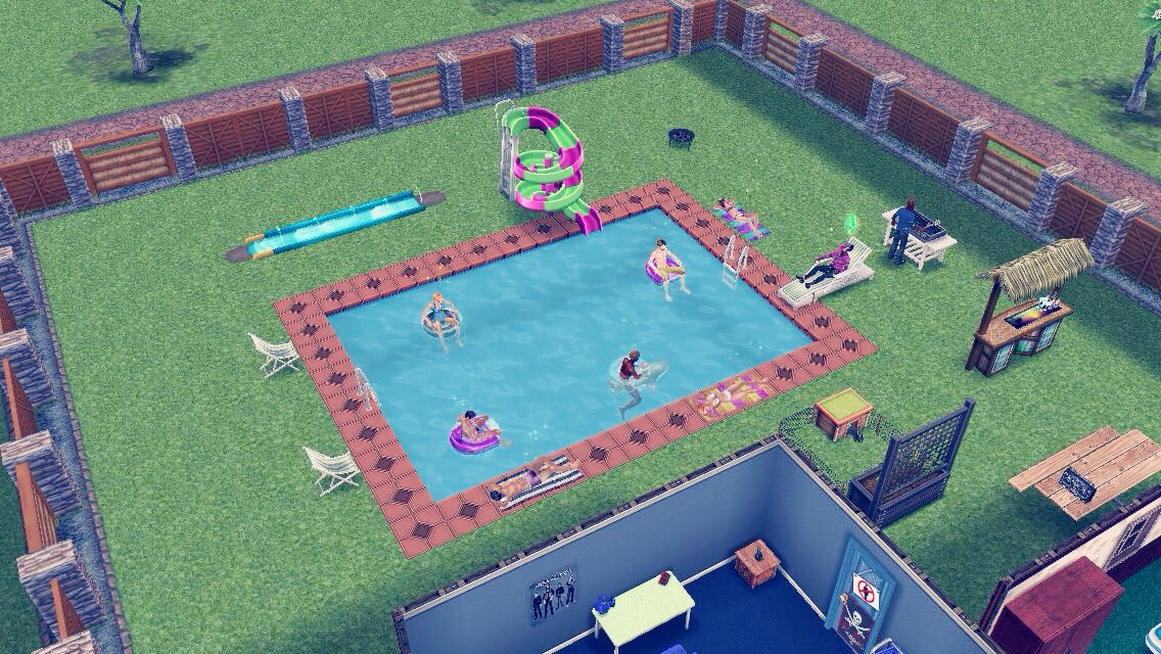 I'm such a Geek Geeklife Thesims Freeplay Sims Fanatic Pool Party Swimming Pool Sim Life Having Fun IPhone