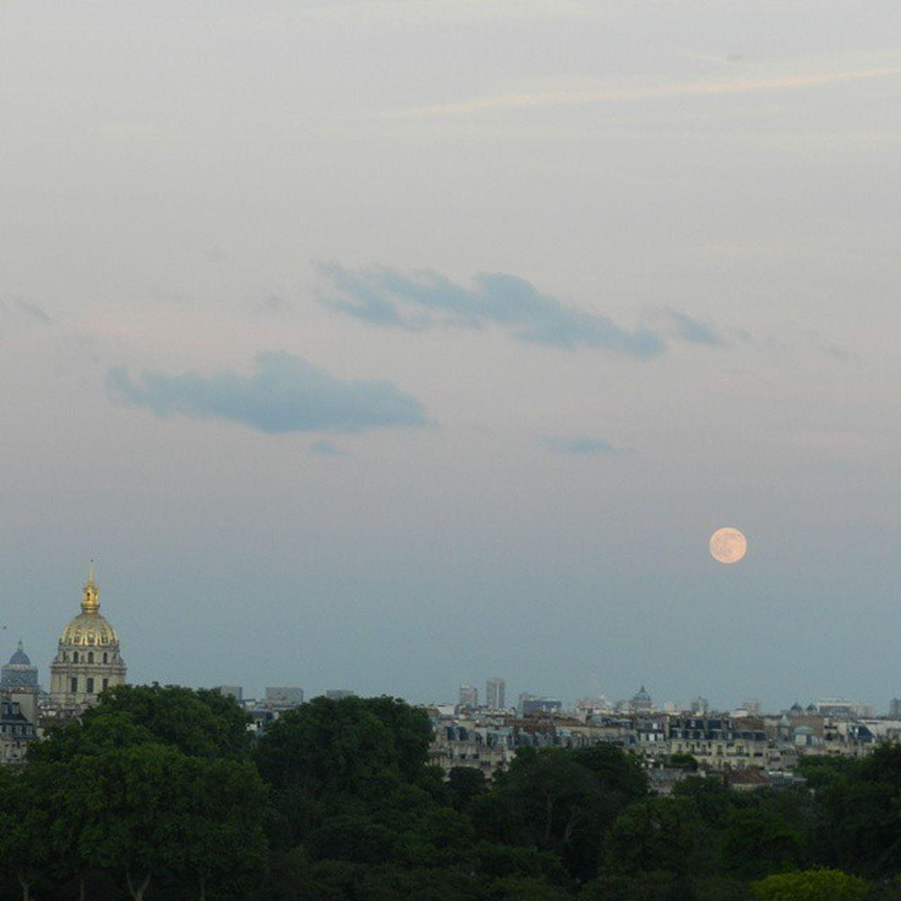 Ciel Parisien ! Paris Lune Coucherdesoleil Coucher