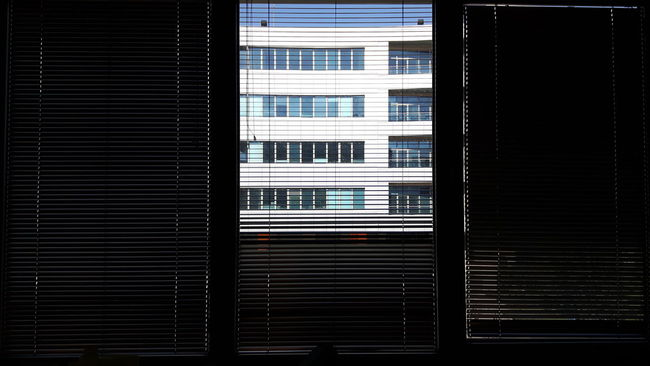Absence Abstract Backgrounds Blinds Closed Contemporary Design Indoors  Modern Pattern Persiennes Showcase March Striped Wall Window