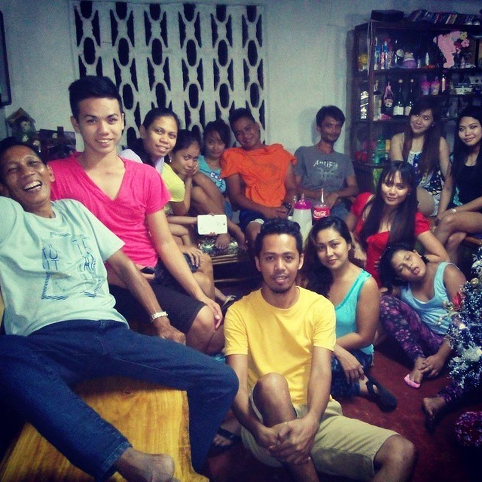 That's papa on the far left with BuntodElites and rhe families earlier... Whew...seems like Mama's livin'... Thanks for your time.... Christmas dinner! Dinner Christmas Pasko yuletide mysticsiquijor itsmorefuninthephilippines