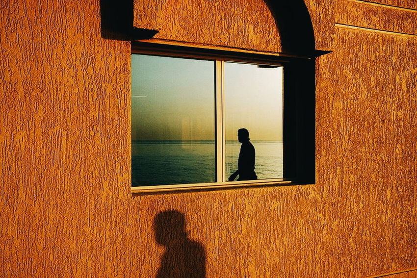 Window Shadow Looking Through Window One Person Indoors  Water Day People Architecture Adult Men Adults Only Nature One Man Only Only Men Kuwaitstreetphotography Streetphotography Kuwait EyeEm Ready   Yoonjeongvin