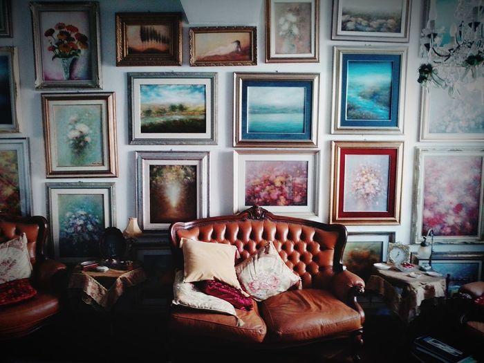Vintage Paintings Sofa Old Style Salotto Soft Light QUADRI Art