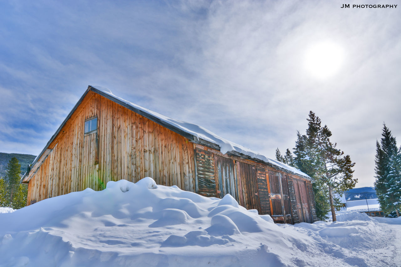 Cold Cottage Fresh HDR Keystone KeystoneSkiResort Lovely Nature No People Pine Tree Pure Shed Shelter Skiing Sky Snow Snow ❄ Snowcapped Mountain Sunny Texture Trees Wide Angle Wild Wood WoodLand