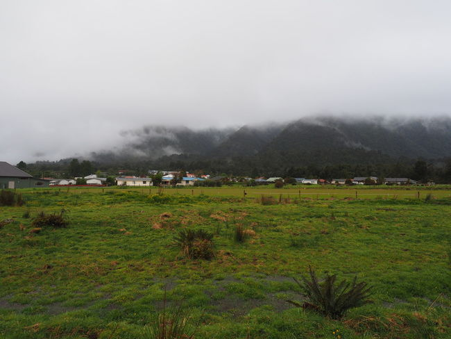 New Zealand Scenery Beauty In Nature Field Fog Grass House Landscape Mountain Outdoors Rural Scene Scenics